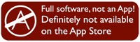 Full software, not an App! Definitely not available on the App Store